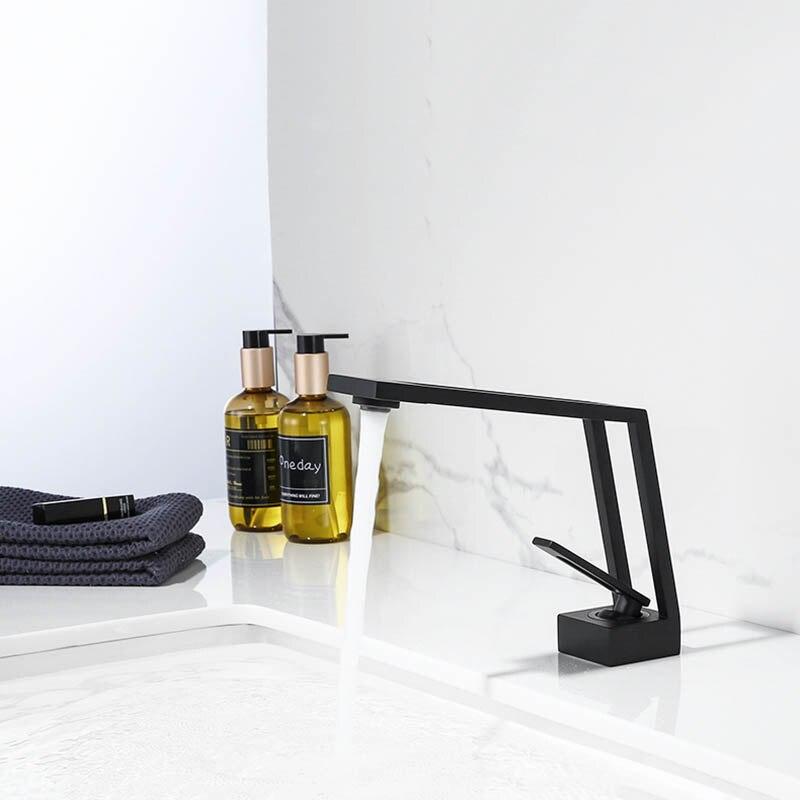 Черный латунный Смеситель для ванной комнаты Смеситель для холодной и горячей воды художественный кран для ванной комнаты|Смесители для бассейна| | АлиЭкспресс