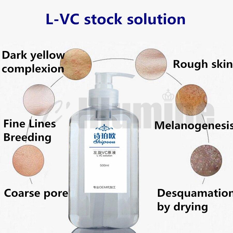 VC liquide vitamine C Essence reconstitue la peau éclaircit les imperfections éclaircit la peau Essence du visage répare 500ml