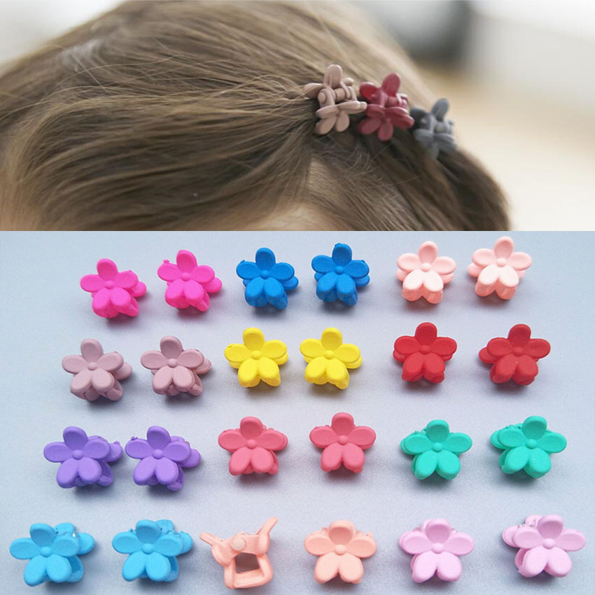 10pcs Hair Pin Baby Girls Small Hair Claw Cute Candy Flower Hair Jaw Clip Children Hairpin Hair Accessories Wholesalehair Pins