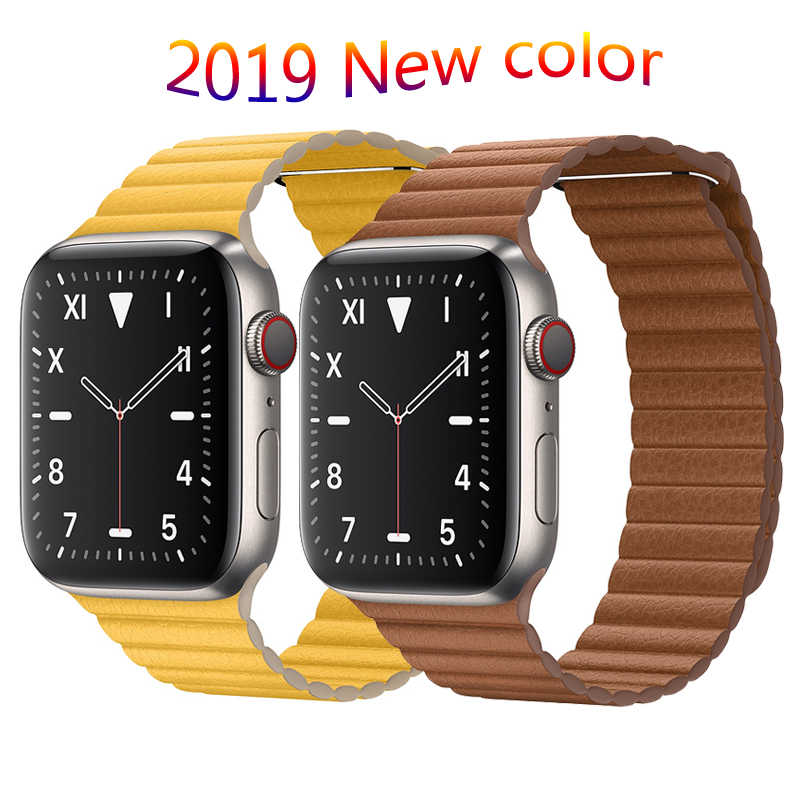 Strap for Apple watch band 42mm 38mm 44mm 40mm correa iwatch 5 4 3 2 Leather loop magnetic bracelet apple watch 4 Accessories