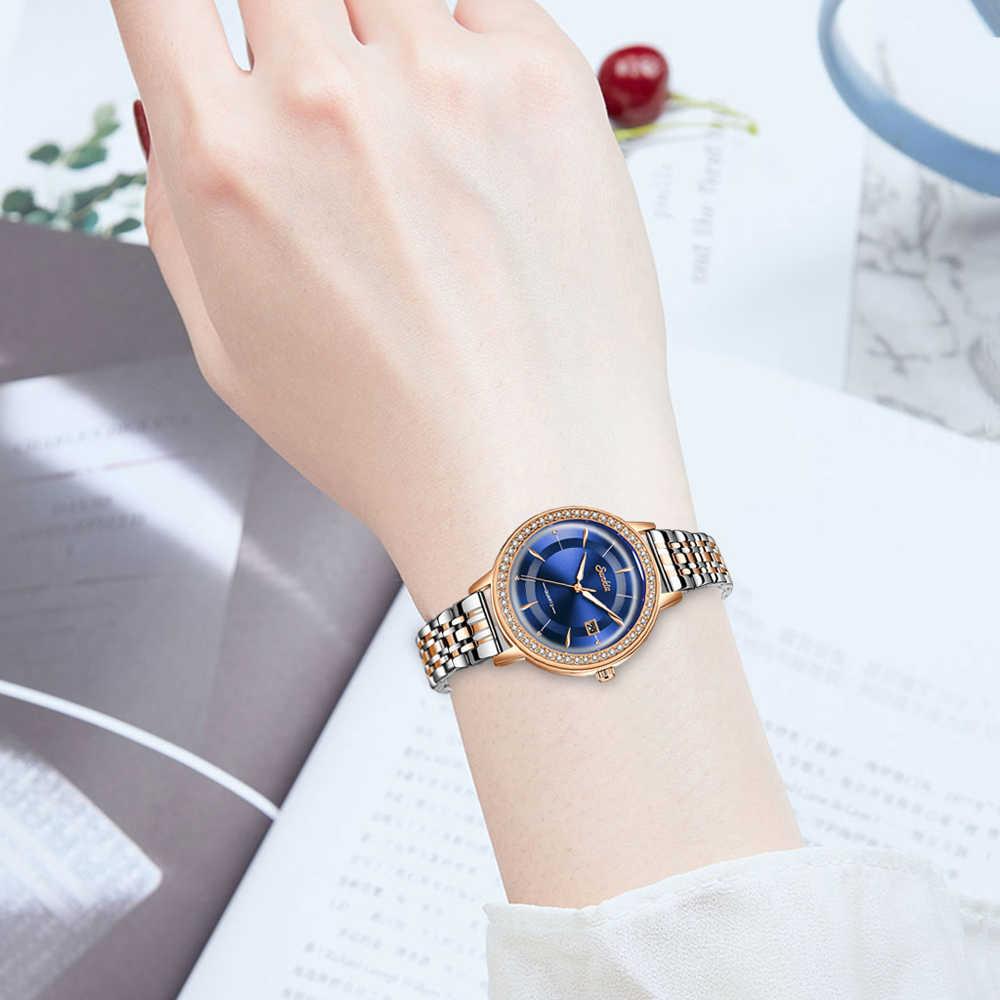 Sunkta relógio feminino elegante marca famosa luxo ouro quartzo relógios senhoras aço antigo genebra relógios de pulso relogio 2020 presente