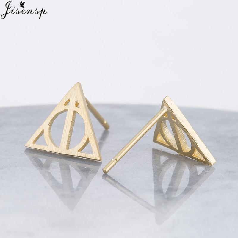 Fashion Bohemian Vintage Earings Jewelry Geometric Airplane Stud Earrings for Women Deathly Hallows Triangle Earing oorbellen
