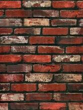 Vinil tijolo texturizado papel de parede peel & vara papel de parede do vintage vermelho alvenaria padrão auto adesivo à prova dwaterproof água casa decorativa