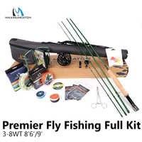 Maximumcatch Maxcatch Premier 8'6''/9' 3-8WT Complete Fly Fising Rod Kit Combo