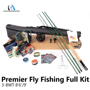 Image 1 - Maximumcatch Maxcatch Premier 86/9 3 8WT Complete Fly Fising Rod Kit Combo