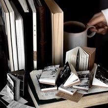 Блокноты для записей Yoofun 64*43 мм, белые и черные блокноты для скрапбукинга, материал для записей, бумажные украшения, фоновая бумага