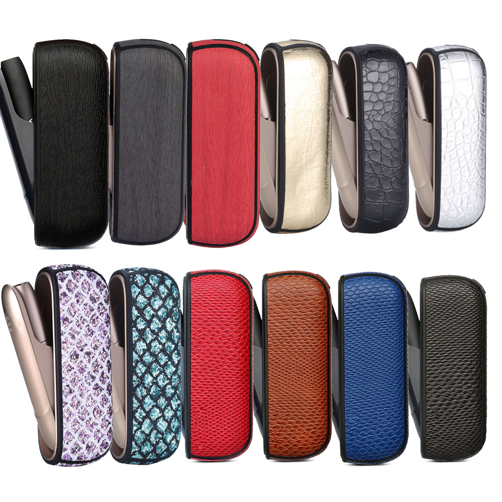 18 Colors Bling Style Wood Crocodile Case For Iqos 3.0 Cover Protective Case Iqos 3/3 DUO Leather Pouch Carrying Bag Accessories