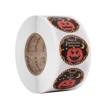 500pcs 8 design Halloween Sticker Kawaii Pumpkin Demon Stickers Scrapbooking DIY Party Gift Packing Box decoration Label Sticker demon box