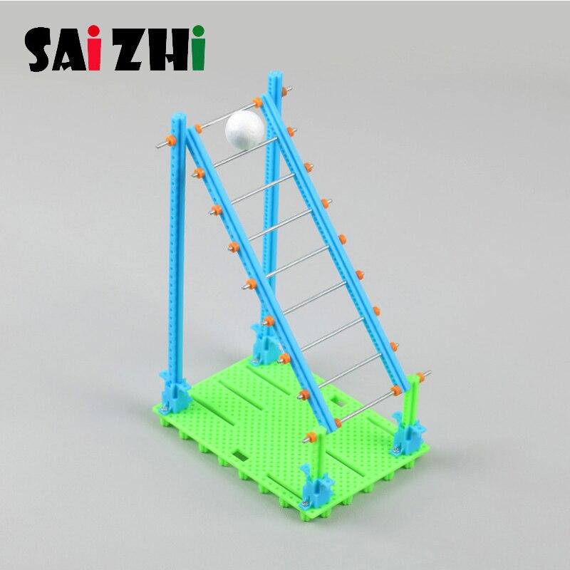 Saizhi Diy Blowing Bal Bernoulli Ladder Small Production Manual DIY Physical Experiments Kids Physics Educational Toys Gifts