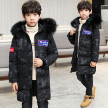Children's Clothing Boys Winter Clothes Down Coat Long Parka Hooded Black Children's Coat For Boy Thick Teenagers Coats Jacket цена в Москве и Питере