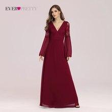 Женское длинное вечернее платье ever pretty элегантное шифоновое
