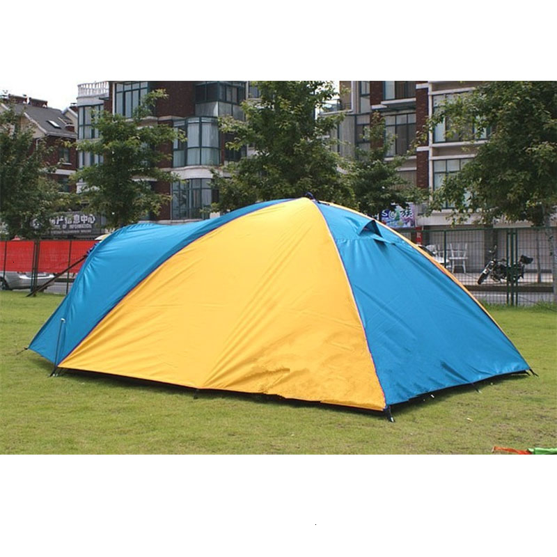 3-4 Person Large Double Layer Tent for Outdoor Camping Hiking Hunting Fishing Travel Picnic Tourist Emergency Tent 320x210x145cm (18)