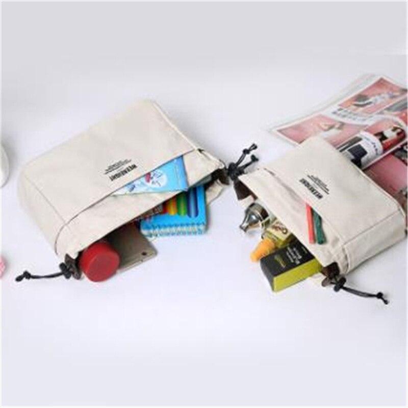 Lona bolsa de maquiagem organizador inserção bolsa