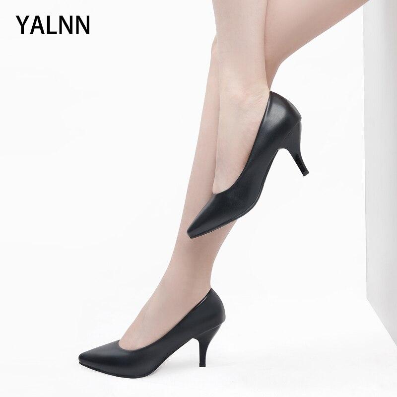 Yalnn/3, 5, 7 см; цвет черный, белый; женская обувь; туфли лодочки на высоком каблуке; женская обувь; Tacones Mujer; женские свадебные туфли на высоком каблуке
