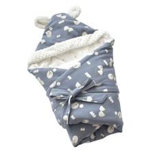Baby Discharge Envelope for Newborns Cotton Cartoon Blanket For Kids Soft Warm Wrap For Baby Girl Boy Sleeping Bag цена