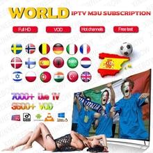 Мировое IPTV m3u подписка 1 год для Португалия Испания Франция Италия США голландский Ip tv m3u подписка для Smart tv Android Box