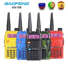 Baofeng UV 5R 워키 토키 휴대용 CB 라디오 방송국 듀얼 밴드 UHF VHF 사냥 햄 라디오 5W HF 송수신기 UV5R 양방향 라디오