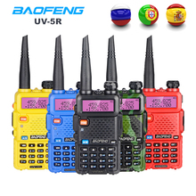 Портативная рация Baofeng UV 5R, двухдиапазонная радиостанция CB, увч, свч, для охоты, любительская радиостанция 5 вт, кв трансивер UV5R, двухсторонняя радиостанция