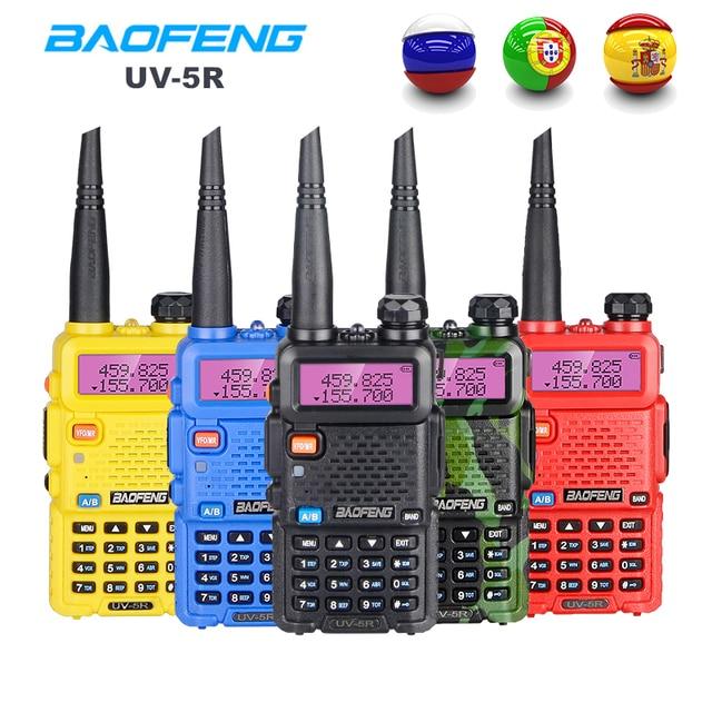 Baofeng UV 5R Walkie Talkie Portable CB Radio Station Dual Band UHF VHF Hunting Ham Radio 5W HF Transceiver UV5R Two Way Radio