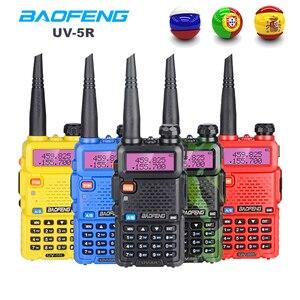 Image 1 - Baofeng UV 5R Walkie Talkie taşınabilir CB radyo istasyonu çift bant UHF VHF av jambon radyo 5W HF telsiz UV5R iki yönlü telsiz
