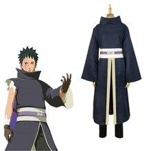 цена на Japan Anime Naruto Akatsuki Tobi Uchiha Obito Cosplay Costumes Men Halloween Party Uniform Suit Complete Full Set