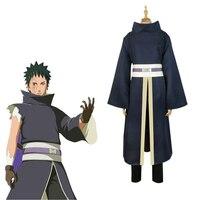 Japan Anime Naruto Akatsuki Tobi Uchiha Obito Cosplay Costumes Men Halloween Party Uniform Suit Complete Full Set