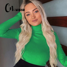 CNYISHE 2019 Autumn Bodysuits Rompers Women Jumpsuits Fashion Solid Regular Long