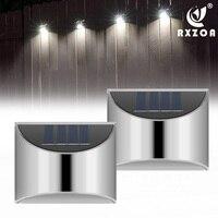 LED Solar Licht Wand Lampe Treppe Licht Edelstahl Material Licht Control Immer Helle Im Freien Wasserdichte Dekorative