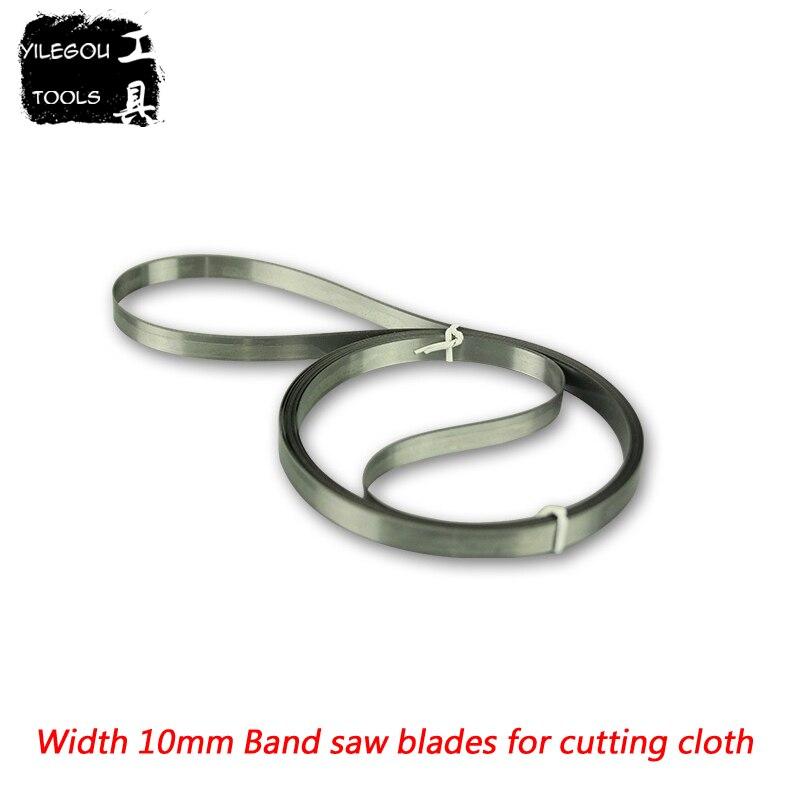 SK5 lames de scie à ruban coupe tissu 4450mm-5500mm lame de ceinture en acier, 700/900/1200 Type machine à couper le tissu lame de scie, largeur 10mm