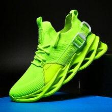 جديد شبكة الرجال أحذية رياضية حذاء كاجوال لاك متابعة حذاء رجالي خفيفة الوزن مريحة تنفس المشي حذاء رياضة Zapatillas Hombre الجري