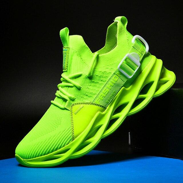 חדש רשת גברים סניקרס נעליים יומיומיות Lac למעלה גברים קלת משקל נוח לנשימה הליכה Sneaker Zapatillas Hombre ריצה