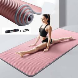 Коврик для йоги 10 мм, 15 мм, Нескользящие коврики NRB для фитнеса, сверхтолстые коврики для пилатеса, упражнений в спортзале, коврик, коврик с за...