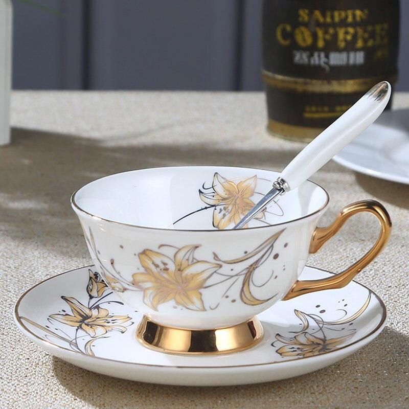 1 set Ceramic tea cup Home Supplies Kitchen Bar Supplies Tea Set Tea Cup