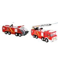 2Pcs Fire Truck Toy Electric Universal Water Jet Fire Truck Toy Fire Truck Car Music Light