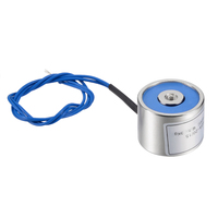 uxcell 20mm x 15mm DC24V 0.05A 1.2W 30N Sucking Disc Solenoid Lift Holding Electromagnet