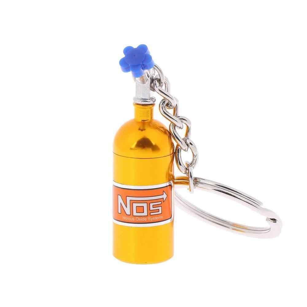 توربو NOS أكسيد النيتروز زجاجة مفتاح سلسلة المفاتيح كيرينغ خبأ حبة صندوق Storag