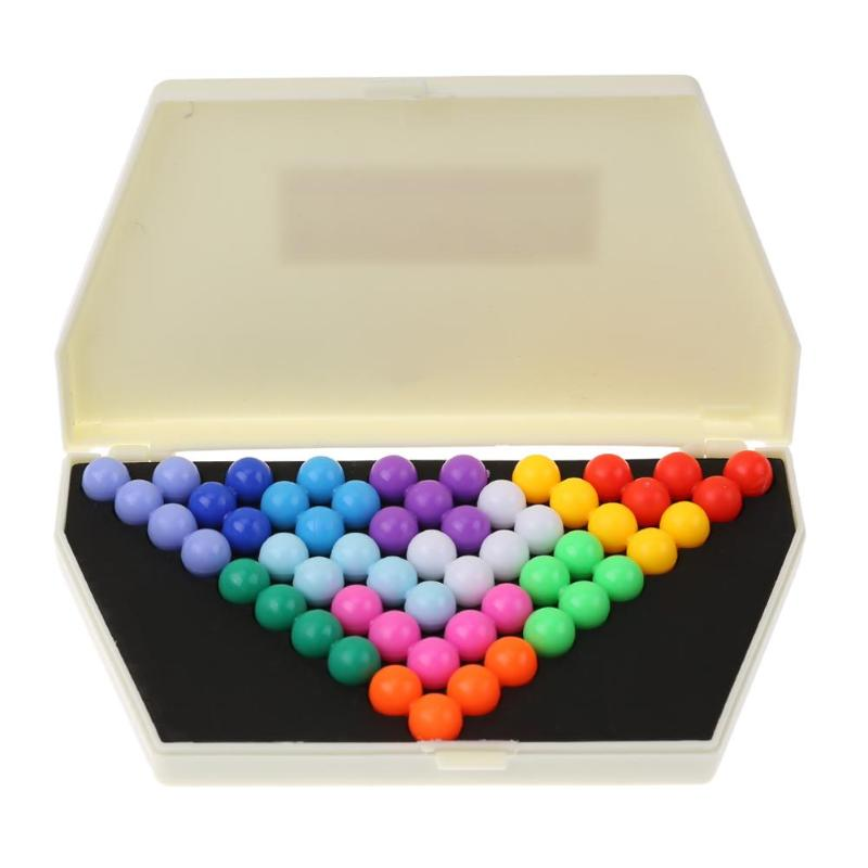 Creative Plastic IQ Logic Puzzle Pyramid Bead Game Toy Tangram Puzzles Game Gift Toys For Children Educational  Toys