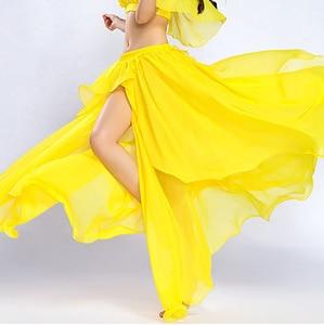 Image 4 - Profesional de la competencia Sexy gasa para las mujeres danza del vientre falda Maxi traje Dancer Dress11 Color; Envío gratis