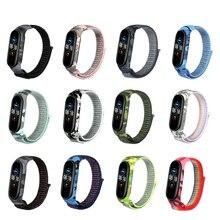 Cinturino in Silicone di Nylon per Xiaomi Mi Band 5 4 3 cinturino di ricambio sportivo per Xiaomi Miband 4 Miband 5 cinturini universali chiusura in Velcro