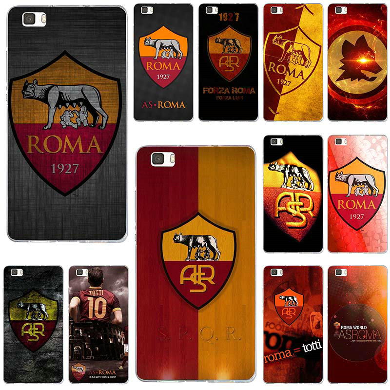 As Roma Logo Football Soft Phone Cases TPU Cover for Huawei P8 P9 ...