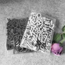 Ímãs de geladeira letras de lembrança, símbolo decoração de parede diy, espuma preto e branco, acessórios de decoração de casa, 180 peças