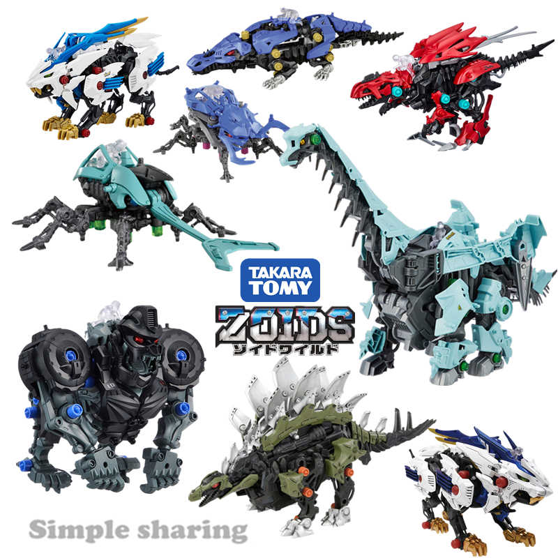 Takkara TOMY Tomica Zoids Rakasa Model Kit Hot Pop Bayi Mainan Miniatur Anime Figure Anak Boneka