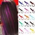 Прямые искусственные цветные пряди для наращивания волос BUQI, радужные синтетические пряди для волос с зажимом, розовые, оранжевые, белые, фи...