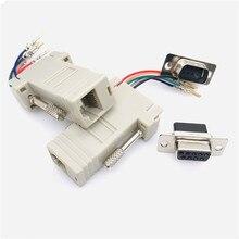 10 шт. Alta calidad DB9 hembra a RJ45 hembra DB9 a RJ45 adaptador conector rs232 Модульный cab-9as-fdte a rj45 db9 para ordenador