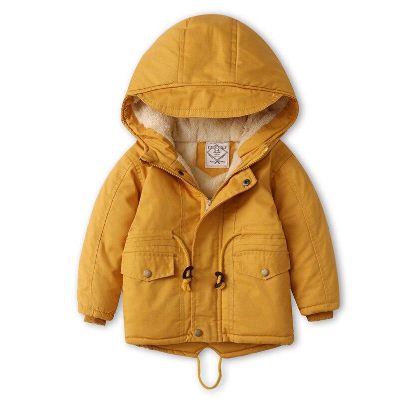 Winter Fleece Jackets For Boys Trench Children's Hooded Warm Kids Boy Outerwear Windbreaker Baby Kids Jacket for girls Coats 5