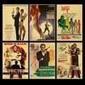 Британская легенда, Джеймс Бонд 007, Ретро плакат, крафт-бумага, украшение для дома и гостиной, настенная наклейка, картина