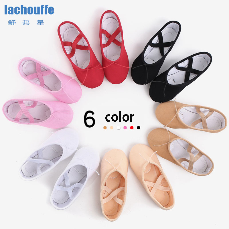 Belly Dance Shoes Red Girls Soft Bottom WomanTrainning Shoes Women Dancing Shoes Canvas Kids Ballet Shoes Big Size EU23-44