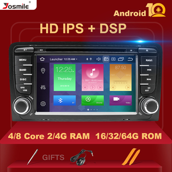 IPS DSP 4GB 2din Android 10 Car Radio DVD Player For Audi A3 8P S3 2003-2012 RS3 Sportback Multimedia Navigation stereo headunit image