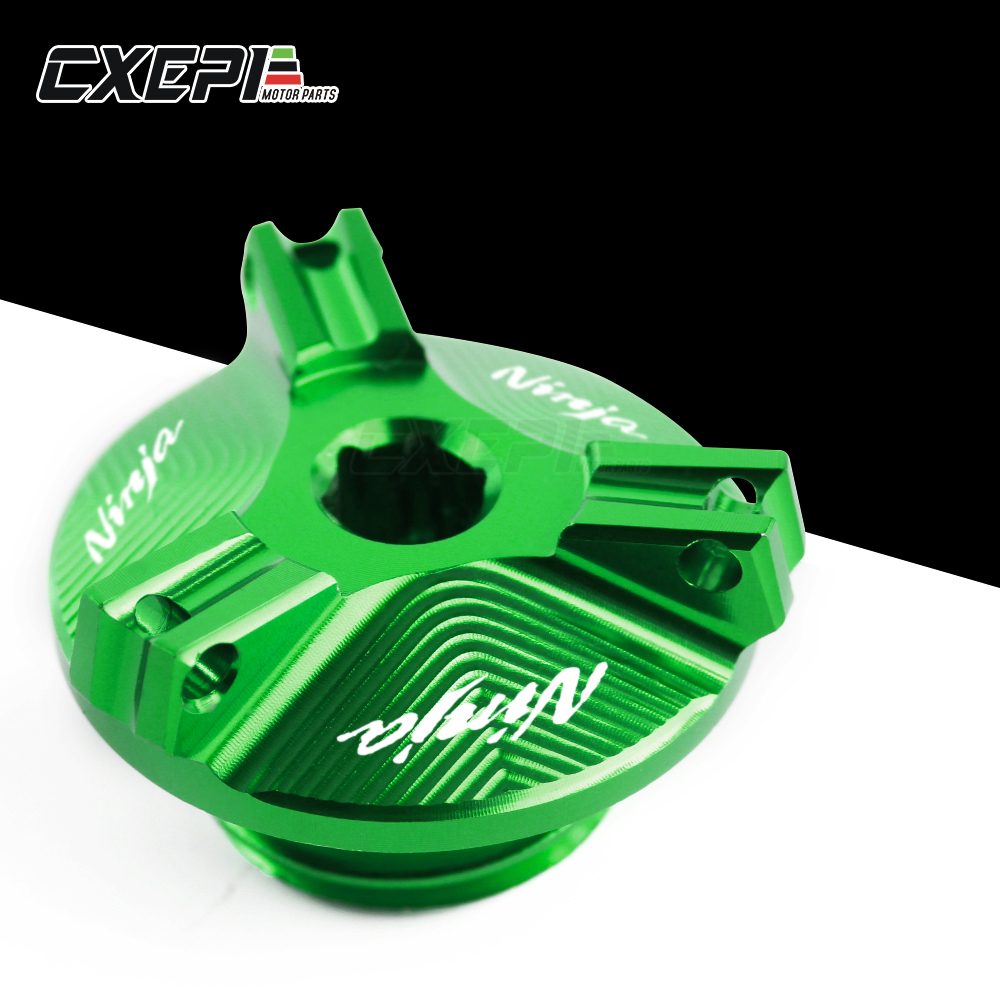 NEW Motorcycle Accessories parts M20*2.5 Engine <font><b>Oil</b></font> Drain Plug Sump Nut Cup Plug Cover For Kawasaki <font><b>NINJA</b></font> <font><b>400</b></font> <font><b>NINJA</b></font> 1000 650R image