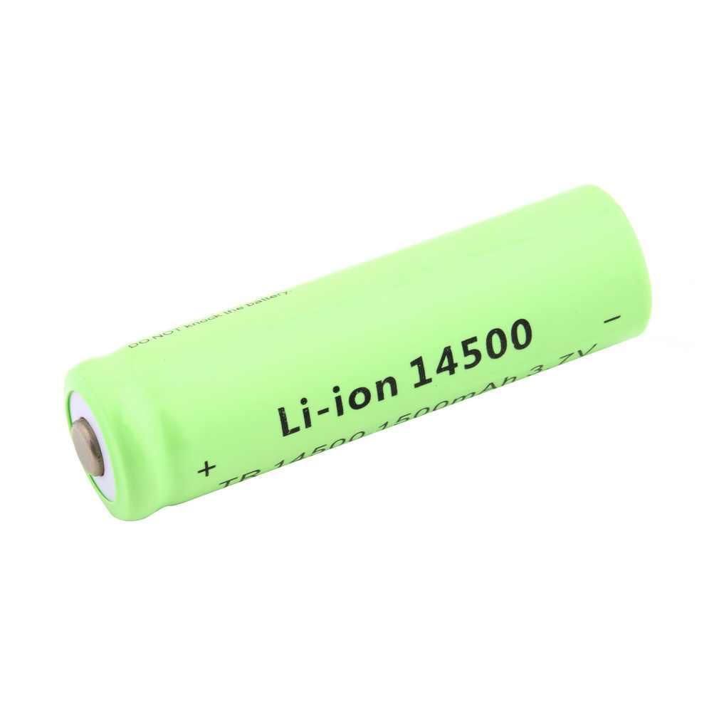 1 قطعة عالية الجودة 3.7 فولت 1500 مللي أمبير TR 14500 ليثيوم أيون بطارية قابلة للشحن ل مضيا الأخضر شل الشعلة استبدال البطارية